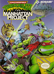 Retro Teenage Mutant Ninja Turtles Manhattan Project Game Poster//NES Game Poster//Video Game Poster//Vintage Game Reprint