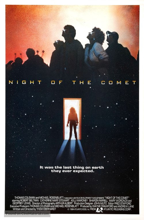 Night of the Comet Poster//Night of the Comet Movie Poster//Movie Poster//Poster Reprint
