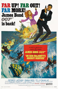 On Her Majesty's Secret Service Poster//On Her Majesty's Secret Service Movie Poster//Movie Poster//Poster Reprint