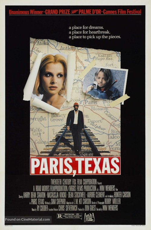 Paris, Texas Poster//Paris, Texas Movie Poster//Movie Poster//Poster Reprint