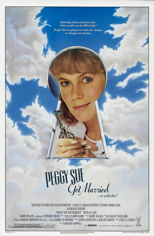 Peggy Sue Got Married Poster//Peggy Sue Got Married Movie Poster//Movie Poster//Poster Reprint