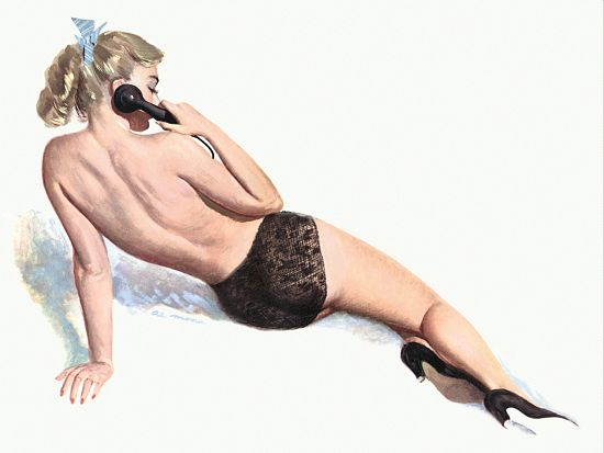 Pin Up Poster Blonde On The Telephone