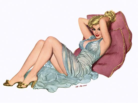 Pin Up Poster Blonde With See Through
