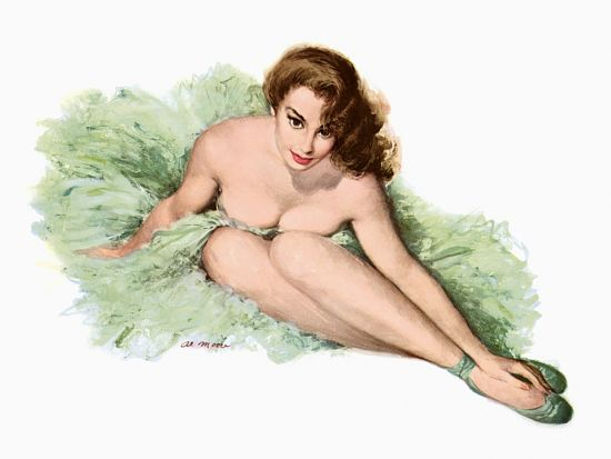 Pin Up Girl Pinup Surrounded In A Petticoat Poster