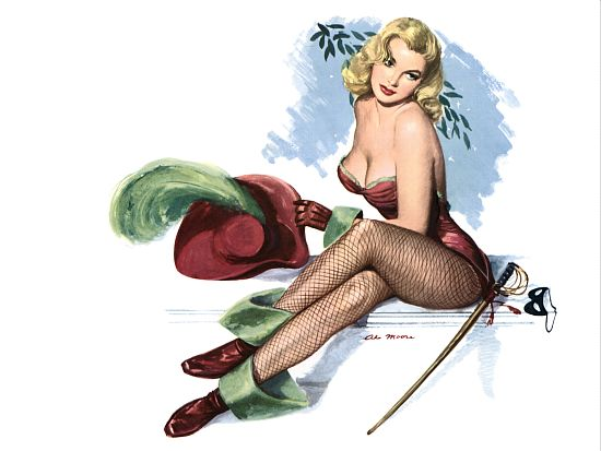 Pin Up Poster Blonde With Musketeer Outfit