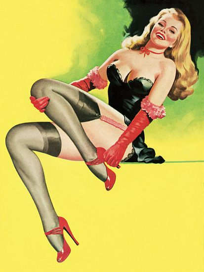 Pin Up Poster Blonde Pinup Girl