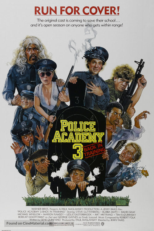Police Academy 3: Back in Training Poster//Police Academy 3: Back in Training Movie Poster//Movie Poster//Poster Reprint