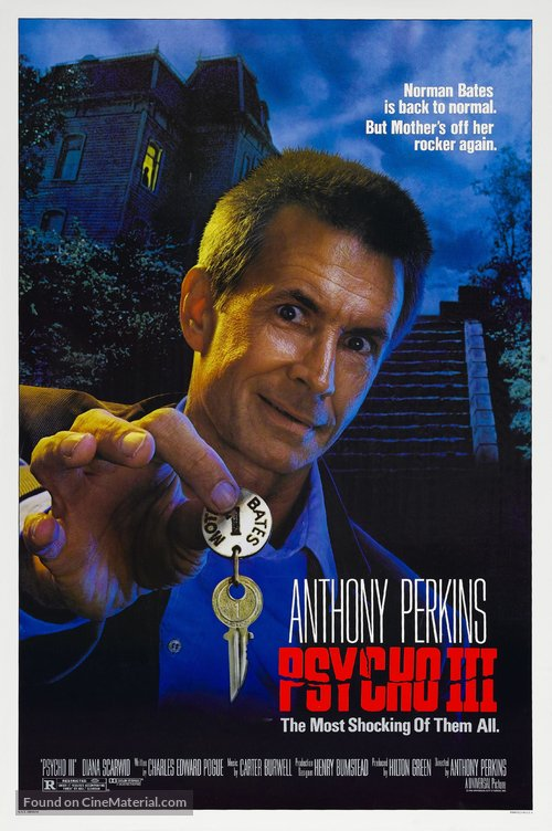 Psycho III Poster//Psycho III Movie Poster//Movie Poster//Poster Reprint