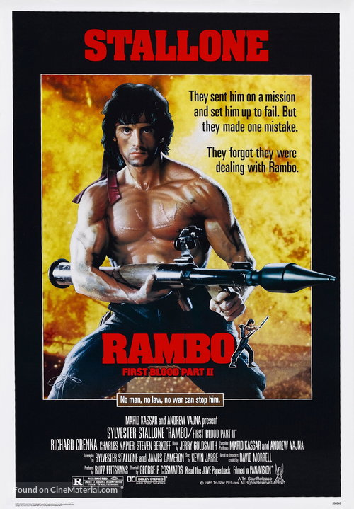 Rambo: First Blood Part II Poster//Rambo: First Blood Part II Movie Poster//Movie Poster//Poster Reprint
