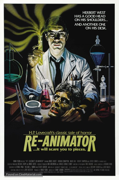Re-Animator Poster//Re-Animator Movie Poster//Movie Poster//Poster Reprint