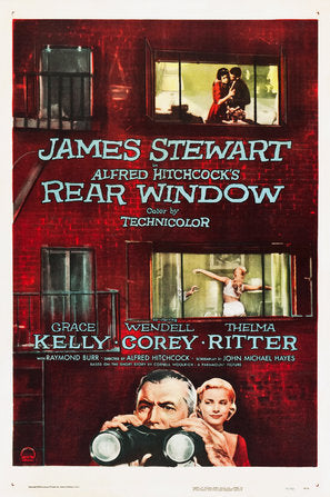 Rear Window Poster//Rear Window Movie Poster//Movie Poster//Poster Reprint//Home Decor//Wall Decor