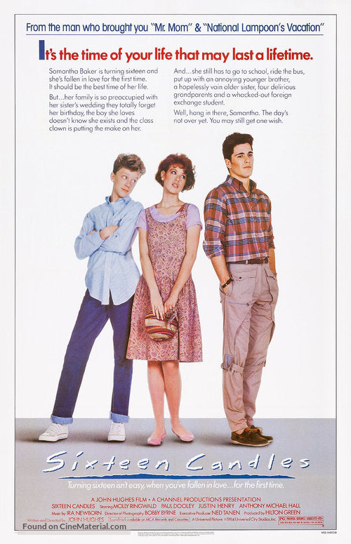 Sixteen Candles Poster//Sixteen Candles Movie Poster//Movie Poster//Poster Reprint