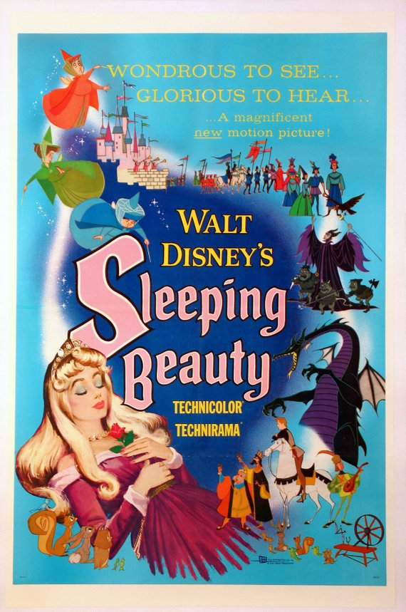 Vintage Sleeping Beauty Movie Poster// Classic Disney Movie Poster//Movie Poster//Poster Reprint//Home Decor//Wall Decor//Vintage Art