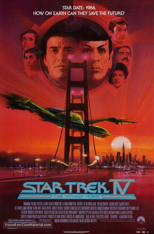 Star Trek: The Voyage Home Poster//Star Trek: The Voyage Home Movie Poster//Movie Poster//Poster Reprint