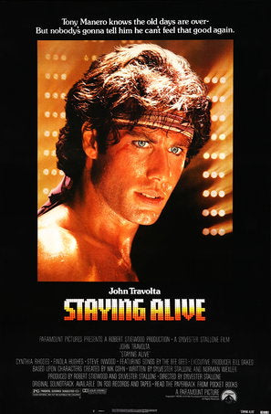Staying Alive Poster//Staying Alive Movie Poster//Movie Poster//Poster Reprint