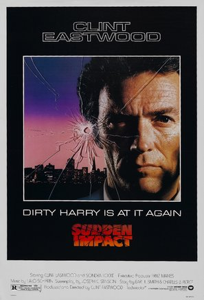 Sudden Impact Poster//Sudden Impact Movie Poster//Movie Poster//Poster Reprint