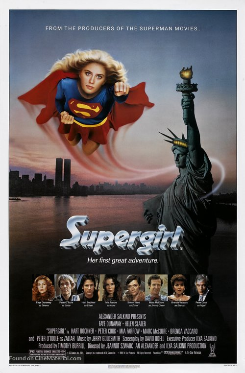 Supergirl Poster//Supergirl Movie Poster//Movie Poster//Poster Reprint