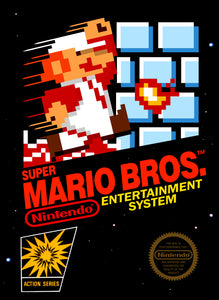 Retro Super Mario Game Poster//NES Game Poster//Video Game Poster//Vintage Game Reprint