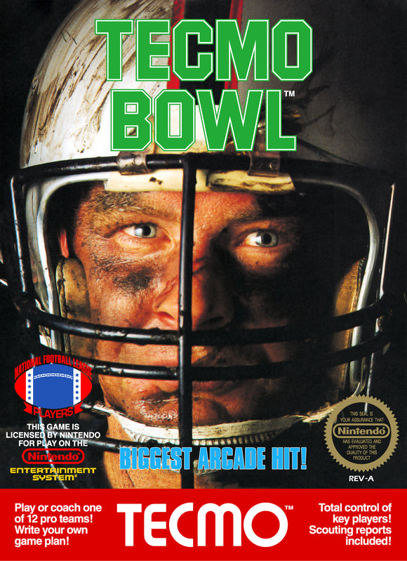 Retro Tecmo Bowl Game Poster//NES Game Poster//Video Game Poster//Vintage Game Reprint