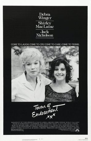 Terms of Endearment Poster//Terms of Endearment Movie Poster//Movie Poster//Poster Reprint