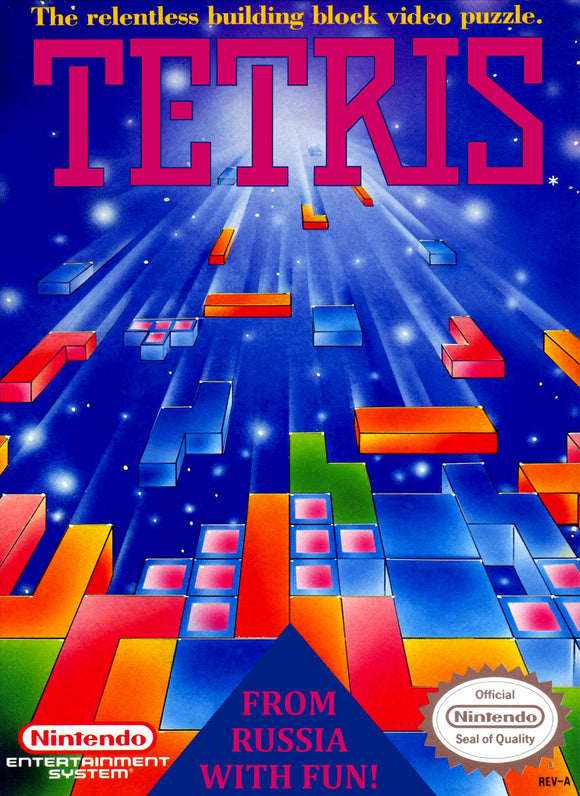 Retro Tetris Game Poster//NES Game Poster//Video Game Poster//Vintage Game Reprint