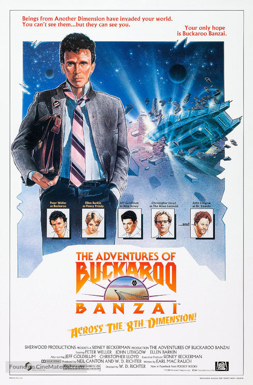The Adventures of Buckaroo Banzai Across the 8th Dimension Poster//The Adventures of Buckaroo Banzai Across the 8th Dimension Movie Poster//Movie Poster//Poster Reprint