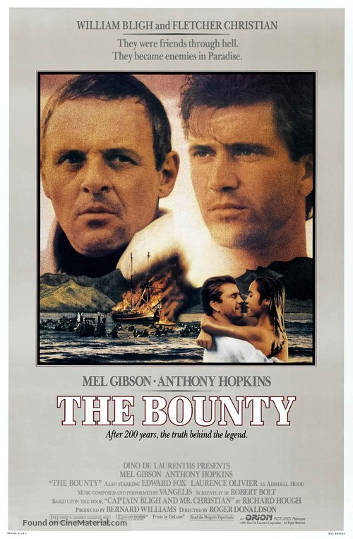 The Bounty Poster//The Bounty Movie Poster//Movie Poster//Poster Reprint