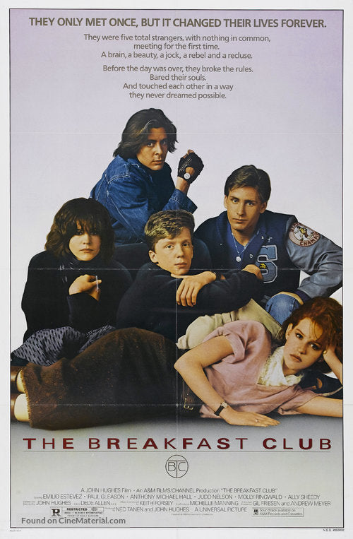 The Breakfast Club Poster//The Breakfast Club Movie Poster//Movie Poster//Poster Reprint