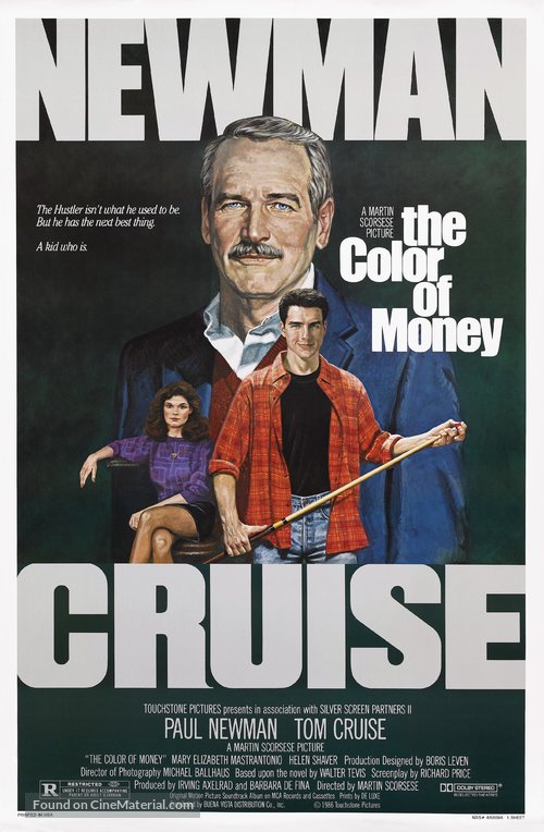 The Color of Money Poster//The Color of Money Movie Poster//Movie Poster//Poster Reprint