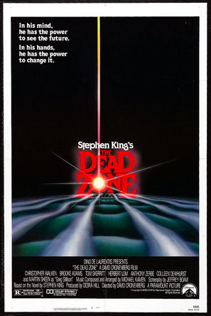 The Dead Zone Poster//The Dead Zone Movie Poster//Movie Poster//Poster Reprint