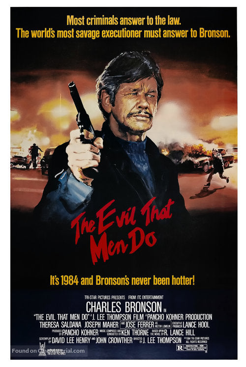 The Evil That Men Do Poster//The Evil That Men Do Movie Poster//Movie Poster//Poster Reprint