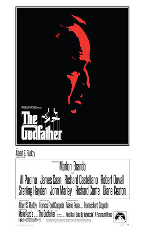 The Godfather Poster//The Godfather Movie Poster//Movie Poster//Poster Reprint