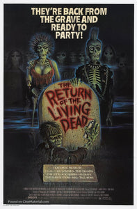 The Return of the Living Dead Poster//The Return of the Living Dead Movie Poster//Movie Poster//Poster Reprint