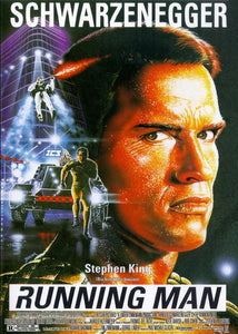 The Running Man Poster//The Running Man Movie Poster//Movie Poster//Poster Reprint