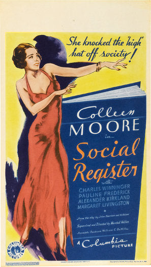 The Social Register Poster//The Social Register Movie Poster//Movie Poster//Poster Reprint