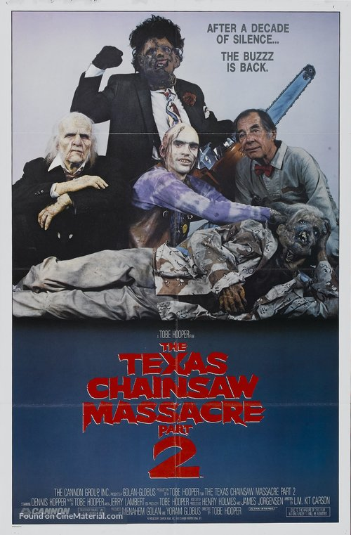 The Texas Chainsaw Massacre 2 Poster//The Texas Chainsaw Massacre 2 Movie Poster//Movie Poster//Poster Reprint