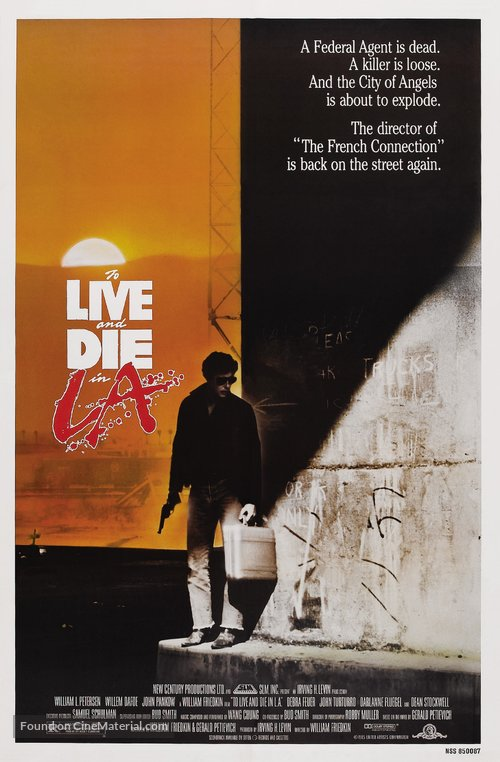 To Live and Die in L.A. Poster//To Live and Die in L.A. Movie Poster//Movie Poster//Poster Reprint