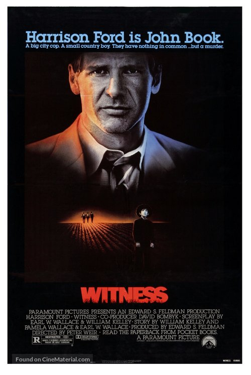 Witness Poster//Witness Movie Poster//Movie Poster//Poster Reprint