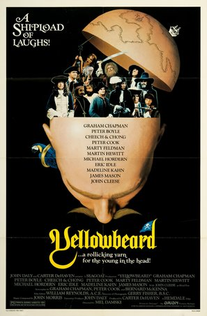 Yellowbeard Poster//Yellowbeard Movie Poster//Movie Poster//Poster Reprint