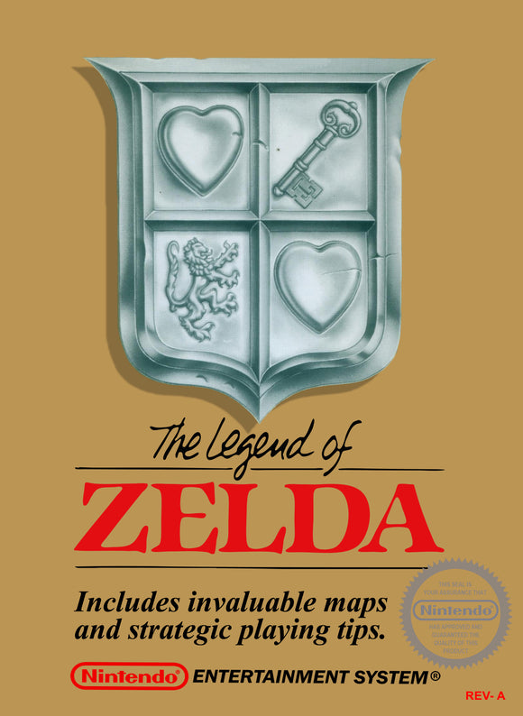 Retro Zelda Game Poster//NES Game Poster//Video Game Poster//Vintage Game Reprint