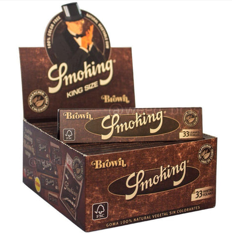 CAIXA Smoking Brown King Size 50 pacotes