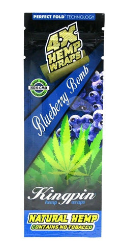 4X Hemp Wraps Blueberry Bomb