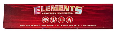 Elements red (Hemp) King Size