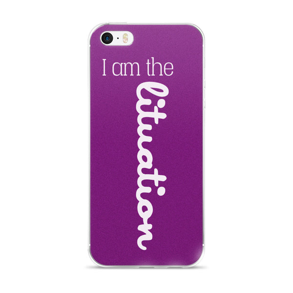 I Am The Lituation Purple iPhone case