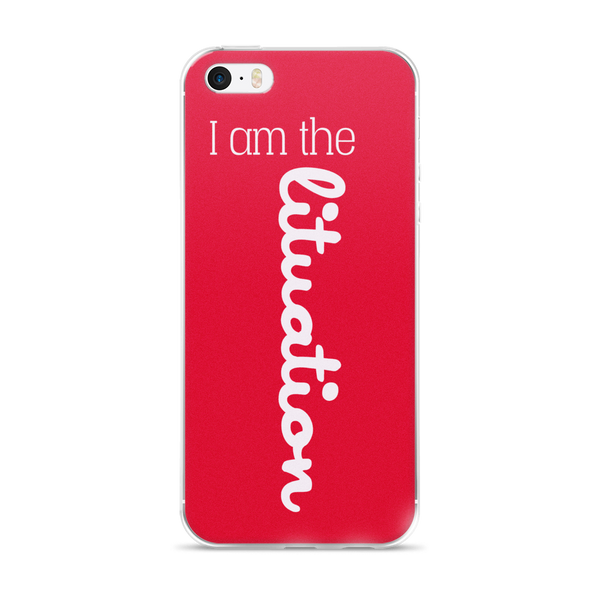 I Am the Lituation Red iPhone case