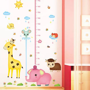 Pink Elephant & Giraffe Growth Chart