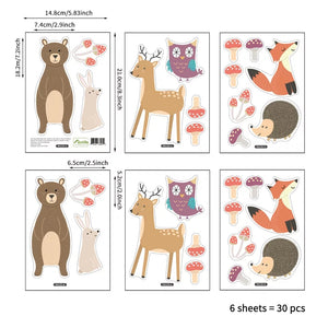 Bear & Deer Stickers
