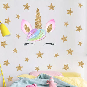 Unicorn & Gold Stars