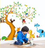Brown Tree Jungle Wall Sticker