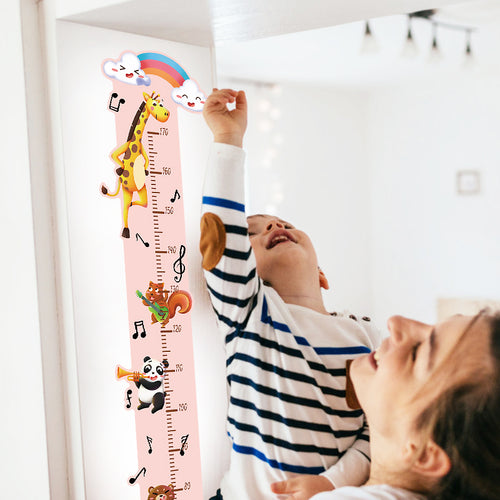 Rainbow Giraffe Growth Chart